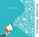 digital marketing flat...   Shutterstock .eps vector #200155118