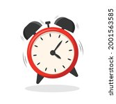 red alarm clock isolated on... | Shutterstock .eps vector #2001563585