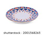 benjarong  plate isolated on...   Shutterstock . vector #2001568265