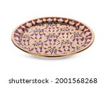 benjarong  plate isolated on...   Shutterstock . vector #2001568268