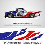 pickup truck racing wrap design ... | Shutterstock .eps vector #2001590228