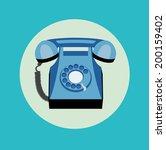 retro telephone flat design | Shutterstock .eps vector #200159402