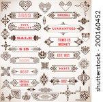 set of calligraphic design... | Shutterstock .eps vector #200160452