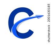 letter alphabet c logo arrow... | Shutterstock .eps vector #2001630185