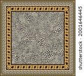 vector carpet print on a beige... | Shutterstock .eps vector #2001646445