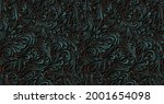 luxurious floral batik... | Shutterstock .eps vector #2001654098