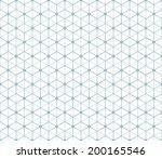 hexagonal abstract connection... | Shutterstock .eps vector #200165546
