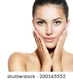 beautiful face of young woman... | Shutterstock . vector #200165552