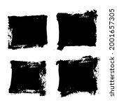 square brush strokes shapes... | Shutterstock .eps vector #2001657305