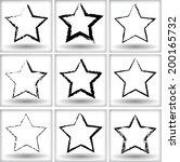 grunge stars | Shutterstock .eps vector #200165732