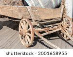 Old Wooden Cart With Wooden...