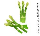 asparagus  set of asparagus on... | Shutterstock .eps vector #2001682025