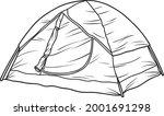 tent line vector illustration...   Shutterstock .eps vector #2001691298