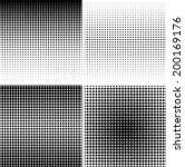 set of halftone background.... | Shutterstock .eps vector #200169176