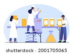 male and female pharmacists... | Shutterstock .eps vector #2001705065
