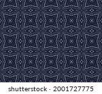 Navy Pen Pattern. Line Mosaic...