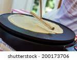 creperie buffet with a chef... | Shutterstock . vector #200173706