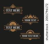 retro art deco frames for label ... | Shutterstock .eps vector #2001796172