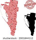 mosaic map of gibraltar united... | Shutterstock .eps vector #2001844112