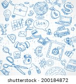 seamless pattern of blue... | Shutterstock .eps vector #200184872