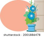 morning glory with bamboo... | Shutterstock .eps vector #2001886478
