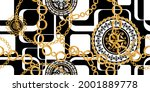 seamless pattern decorated with ... | Shutterstock .eps vector #2001889778