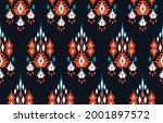 ikat ethnic design abstract... | Shutterstock .eps vector #2001897572