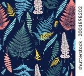 fashion vector fern seamless... | Shutterstock .eps vector #2001898202