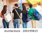 rear view of a bunch of high... | Shutterstock . vector #200190815
