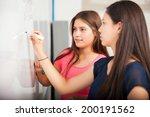 couple of female high school... | Shutterstock . vector #200191562