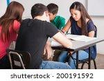 group of high school students... | Shutterstock . vector #200191592