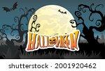 halloween handwritten in the... | Shutterstock .eps vector #2001920462