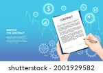 online signing of the contract... | Shutterstock .eps vector #2001929582