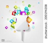 pin icon. application button...   Shutterstock .eps vector #200194208