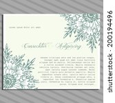 wedding invitation cards with... | Shutterstock .eps vector #200194496