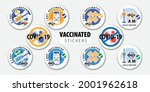vaccinated sticker or... | Shutterstock .eps vector #2001962618