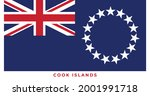 the national flag of cook... | Shutterstock .eps vector #2001991718