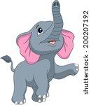 cute elephant cartoon   Shutterstock .eps vector #200207192