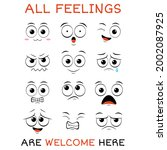 all feeling are welcome here.... | Shutterstock .eps vector #2002087925
