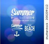 retro elements for summer  ... | Shutterstock .eps vector #200209112