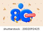 banner with 80 followers thank... | Shutterstock .eps vector #2002092425