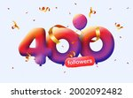 banner with 400 followers thank ... | Shutterstock .eps vector #2002092482