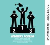 winners podium symbol vector...   Shutterstock .eps vector #200212772