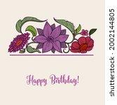 floral border botanical... | Shutterstock .eps vector #2002144805