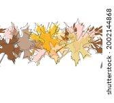 maple fall leaves background.... | Shutterstock .eps vector #2002144868