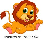 Stock photo cute baby lion cartoon 200215562