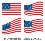 american flag in different...   Shutterstock .eps vector #2002169162