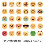 set of funny cartoon faces with ...   Shutterstock .eps vector #2002171142