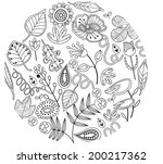 the view of plant pattern  | Shutterstock .eps vector #200217362