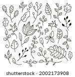 set of hand drawn sketch doodle ...   Shutterstock .eps vector #2002173908